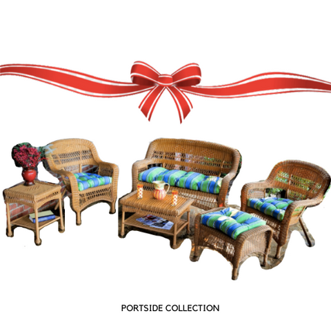 Tortuga Outdoor Portside 6 Piece Resin Wicker Seating Set