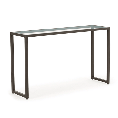 "Watermark Living Manchester 12"" x 44"" Console Table with Glass Top"