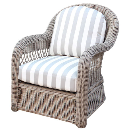 South Sea Rattan South Sea Rattan Arcadia Wicker Arm Chair with a Driftwood Finish Chair - Rattan Imports