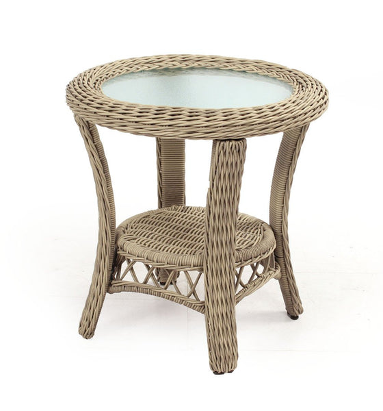 Arcadia End Table in a Classic Driftwood Finish by South Sea Rattan-South Sea Rattan-Rattan Imports
