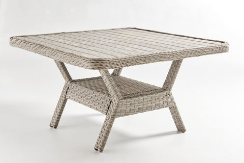 South Sea Rattan South Sea Rattan Mayfair Dining Chat Table - Poly Top Dining Table - Rattan Imports