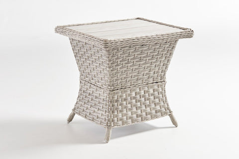 Mayfair End Table - Poly Top by South Sea Rattan-South Sea Rattan-Rattan Imports