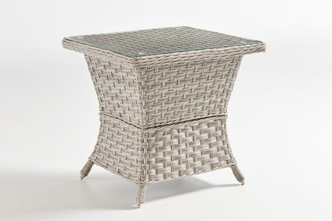 South Sea Rattan South Sea Rattan Mayfair End Table - Glass Top End Table - Rattan Imports