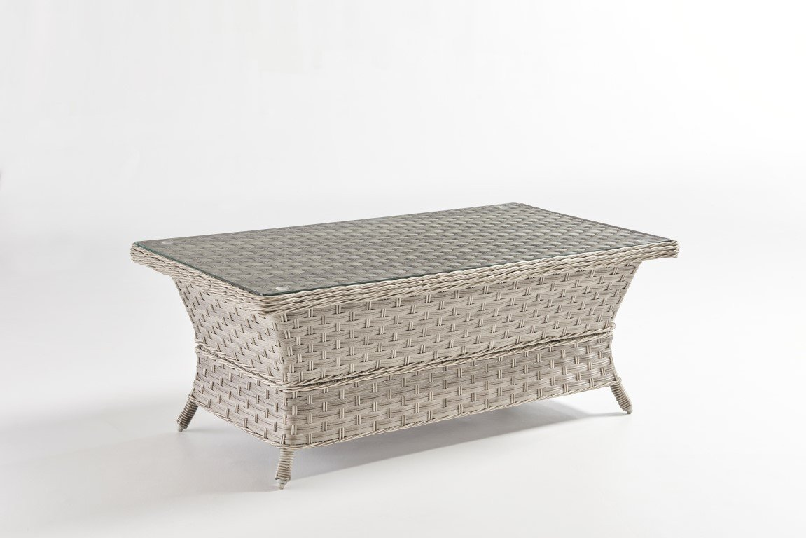 South Sea Rattan South Sea Rattan Mayfair Coffee Table - Glass Top Coffee Table - Rattan Imports