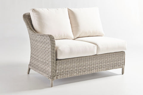 South Sea Rattan South Sea Rattan Mayfair One Arm Loveseat Left-Side Facing Sectional Sectional Piece - Rattan Imports