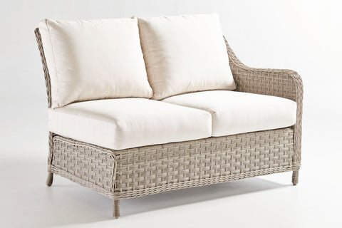 South Sea Rattan South Sea Rattan Mayfair One Arm Loveseat Right-Side Facing Sectional Sectional Piece - Rattan Imports