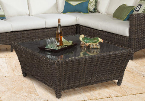 South Sea Rattan South Sea Rattan Panama Square Chat Table Coffee Table - Rattan Imports