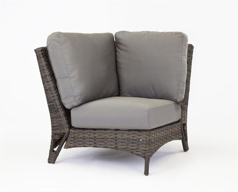 South Sea Rattan South Sea Rattan Panama Corner Piece Sectional Piece - Rattan Imports