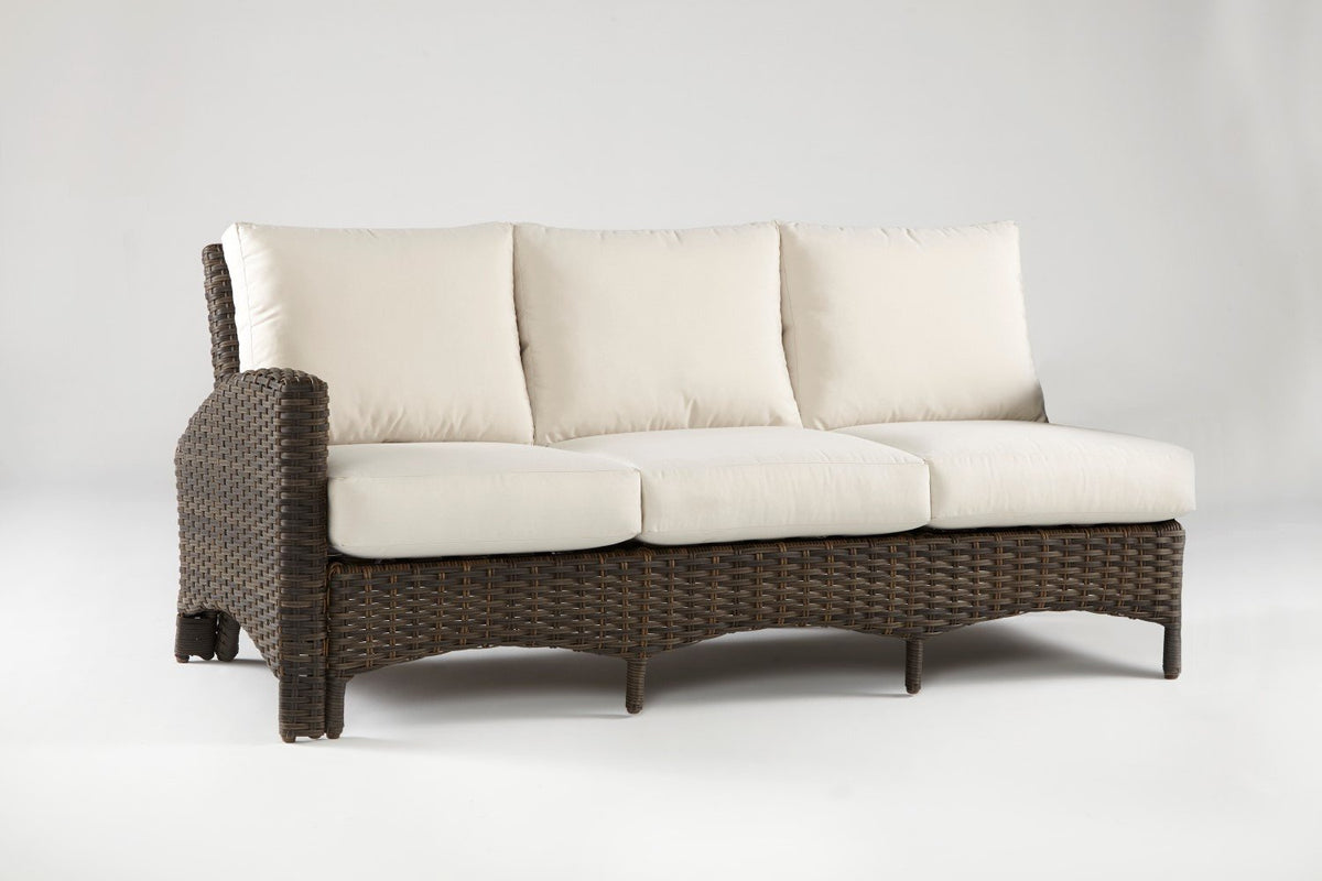 South Sea Rattan South Sea Rattan Panama One Arm Sofa Left-Side Facing Sectional Sectional Piece - Rattan Imports