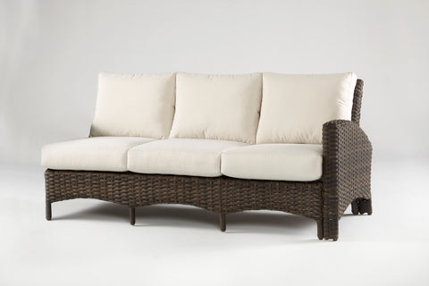South Sea Rattan South Sea Rattan Panama One Arm Sofa Right-Side Facing Sectional Sectional Piece - Rattan Imports