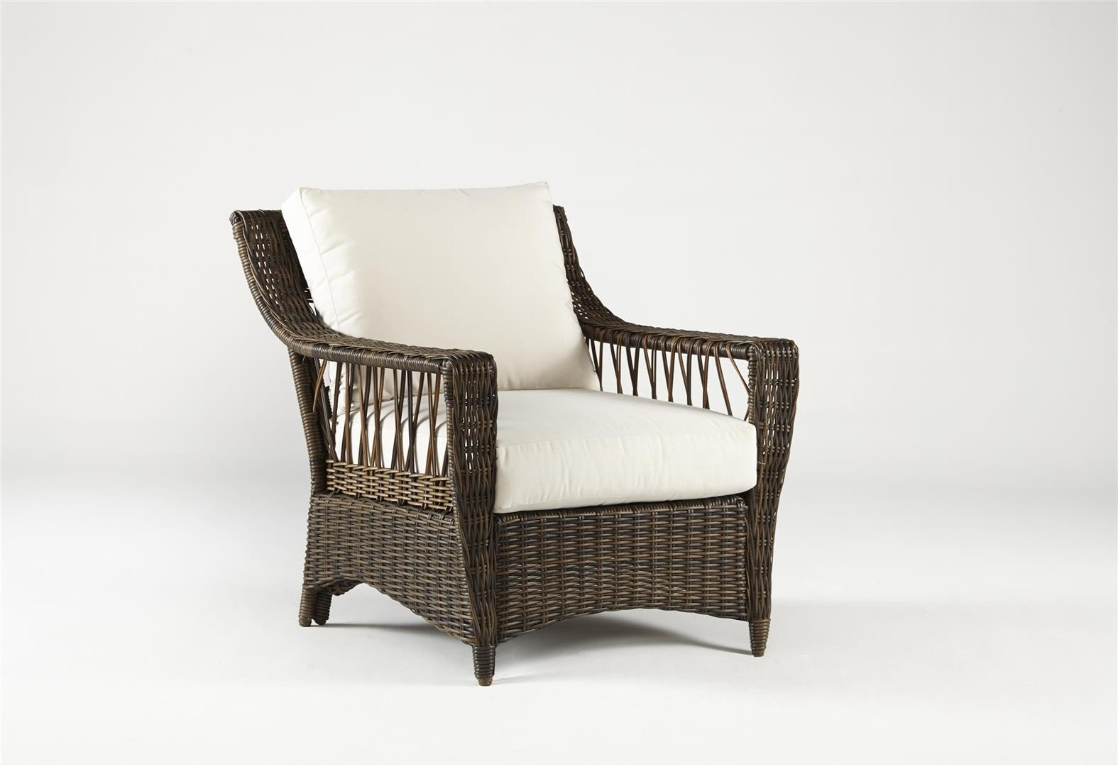 South Sea Rattan South Sea Rattan St. John Resin Wicker Arm Chair Chair - Rattan Imports