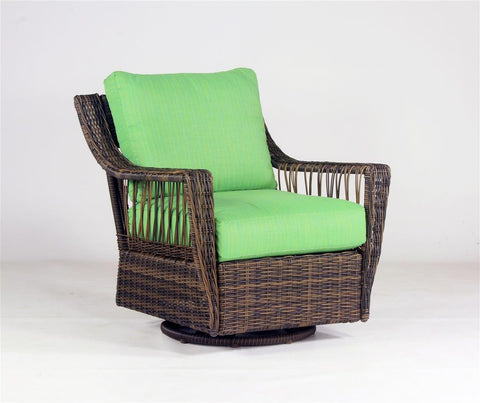 South Sea Rattan South Sea Rattan St. John Swivel Glider Swivel Glider Chair - Rattan Imports
