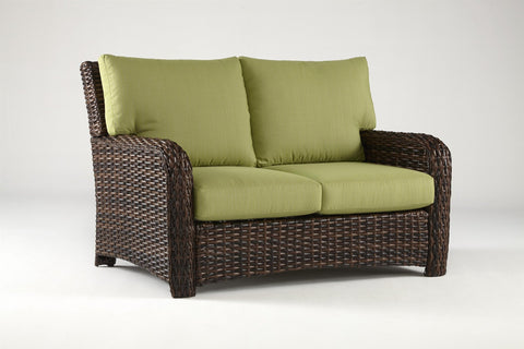 South Sea Rattan South Sea Rattan St. Tropez Resin Wicker Loveseat Loveseat - Rattan Imports