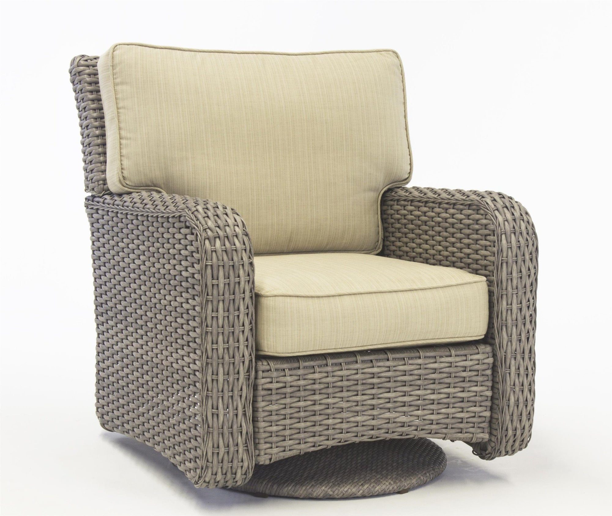 South Sea Rattan South Sea Rattan St. Tropez Swivel Glider Swivel Glider Chair - Rattan Imports