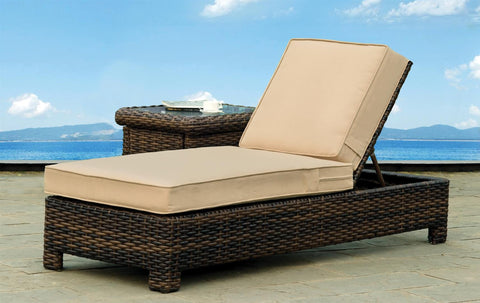 South Sea Rattan South Sea Rattan St. Tropez Chaise Lounge Lounge Chair - Rattan Imports