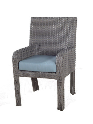South Sea Rattan South Sea Rattan St. Tropez Dining Arm Chair Chair - Rattan Imports