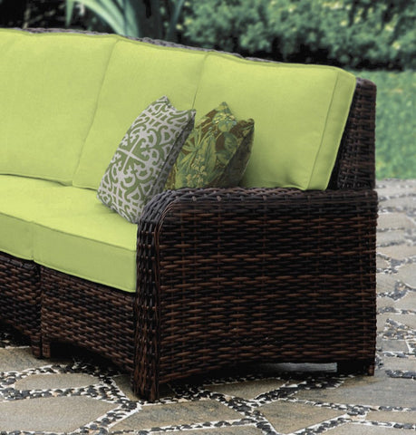 South Sea Rattan South Sea Rattan St. Tropez Sectional Right-Side Facing Piece Sectional Piece - Rattan Imports