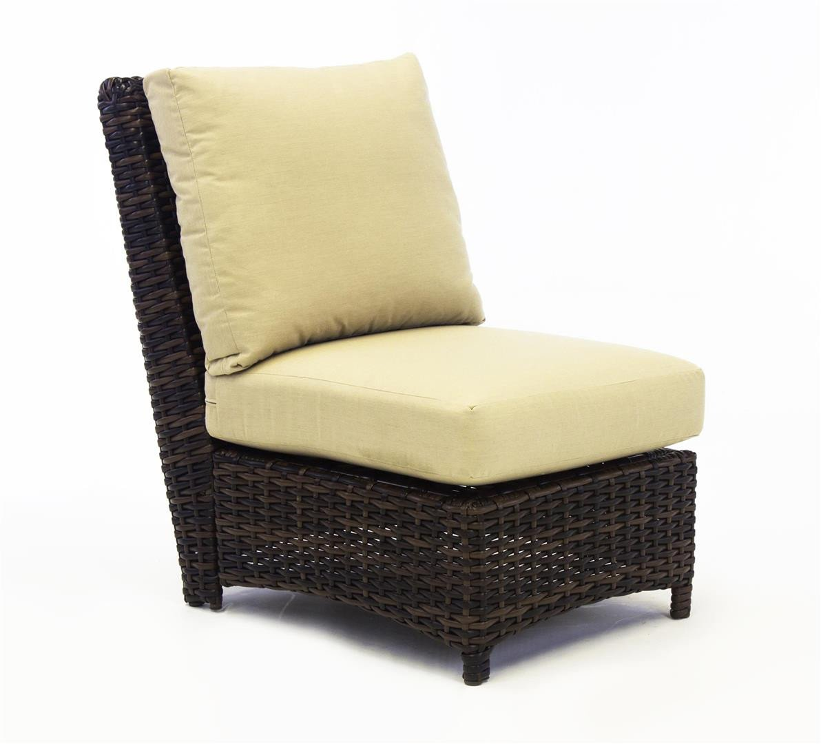 South Sea Rattan South Sea Rattan St. Tropez Sectional Armless Piece Sectional Piece - Rattan Imports