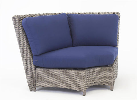 St. Tropez Sectional Wedge Corner Piece Sectional by South Sea Rattan-South Sea Rattan-Rattan Imports