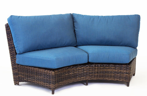 South Sea Rattan South Sea Rattan St. Tropez Curved Loveseat Sectional Piece - Rattan Imports