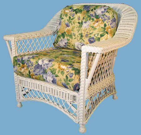 Spice Islands Spice Islands Bar Harbor Dining Arm Chair Whitewash Chair - Rattan Imports