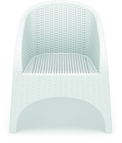 Compamia Compamia Siesta Aruba Resin Wickerlook Chair White (Set of 2) Chair - Rattan Imports