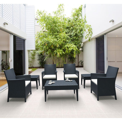 Compamia Compamia Siesta California Wickerlook Casual Seating Set 7 Piece Seating - Rattan Imports