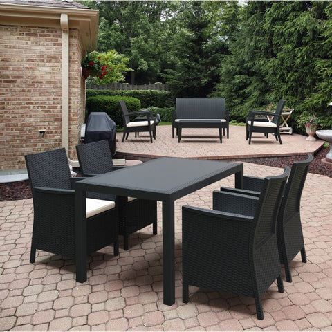 Compamia Compamia Siesta California Wickerlook Rectangle Dining Set 5 Piece Dining - Rattan Imports