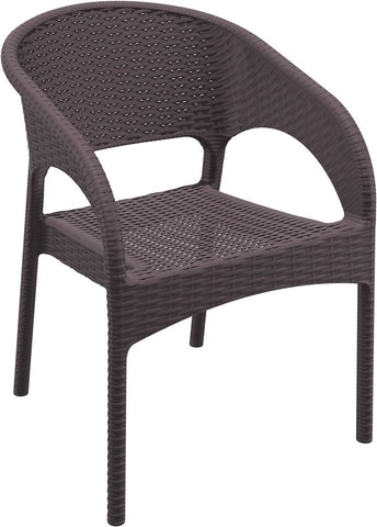 Compamia Compamia Siesta Panama Resin Wickerlook Dining Arm Chair (Set of 2) Chair - Rattan Imports