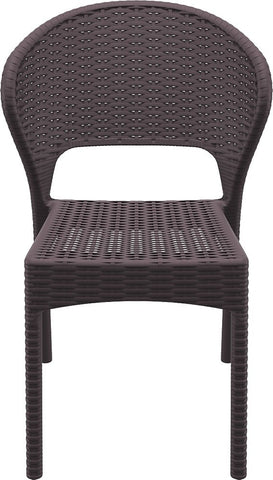 Compamia Compamia Siesta Daytona Wickerlook Square Dining Set 5 Piece with Side Chairs Dining Set - Rattan Imports