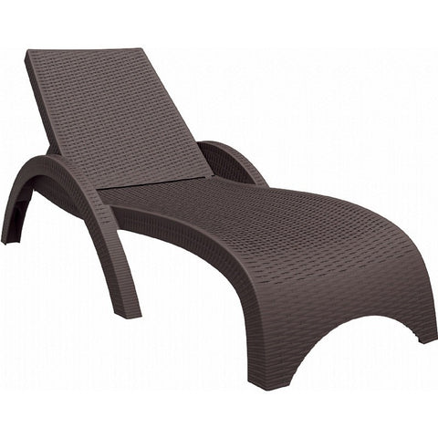 Compamia Compamia Siesta Miami Resin Wickerlook Chaise Lounge Brown Lounge Chair - Rattan Imports