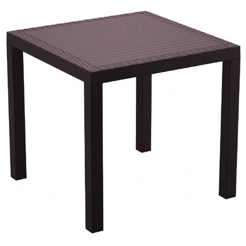 Compamia Compamia Siesta Orlando Resin Wickerlook Square Dining Table 31 inch Dining Table - Rattan Imports