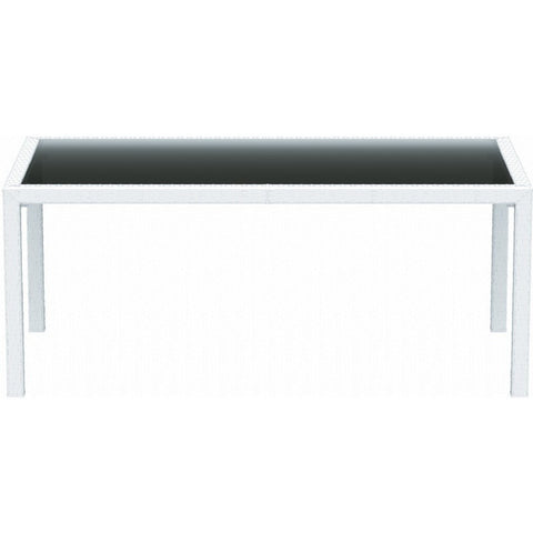 Compamia - Siesta Miami Resin Wickerlook Rectangle Dining Table White 71 inch -  -  - 2
