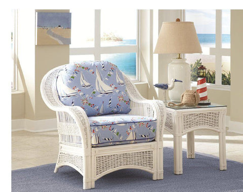 Spice Islands Spice Islands Regatta Arm Chair White Chair - Rattan Imports