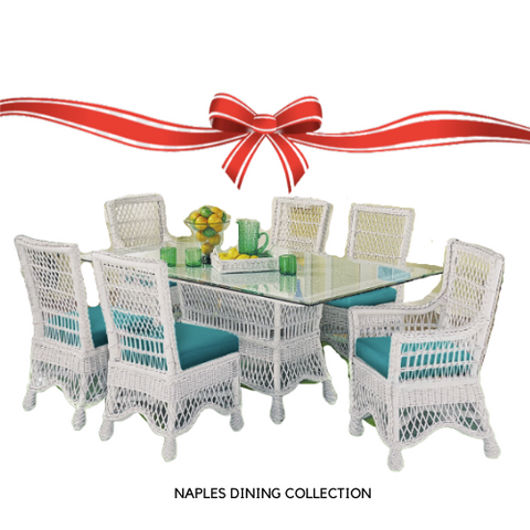 Designer Wicker & Rattan By Tribor Naples 7 Piece Wicker Dining Set by Designer Wicker from Tribor Dining Set - Rattan Imports