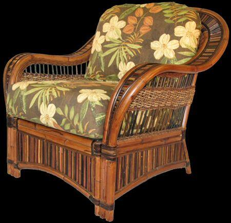 Spice Islands Spice Islands Congo Arm Chair Cocoa Chair - Rattan Imports