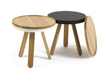 Tortuga Outdoor - Traditional Wooden Side Table (Oak, Black, White) -  -
