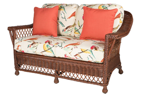 Designer Wicker & Rattan By Tribor Designer Wicker Bar Harbor Loveseat Loveseat - Rattan Imports