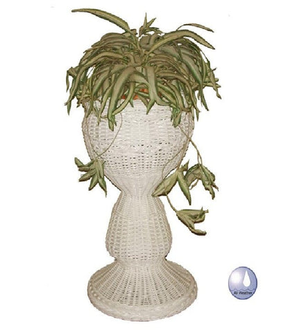 Resin Alum Round Planter-Charles Schober-Rattan Imports