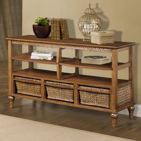 Sea Winds Trading - Abaco 3 Basket Entertainment Center -  -