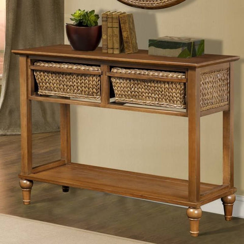 Sea Winds Trading - Abaco 2 Basket Console Table -  -  - 1
