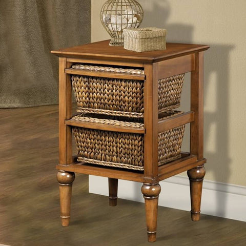 Sea Winds Trading - Abaco 2 Basket Nightstand -  -