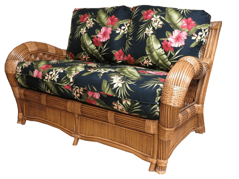 Spice Islands Spice Islands Kingston Reef Loveseat Cinnamon By Spice Islands Loveseat - Rattan Imports