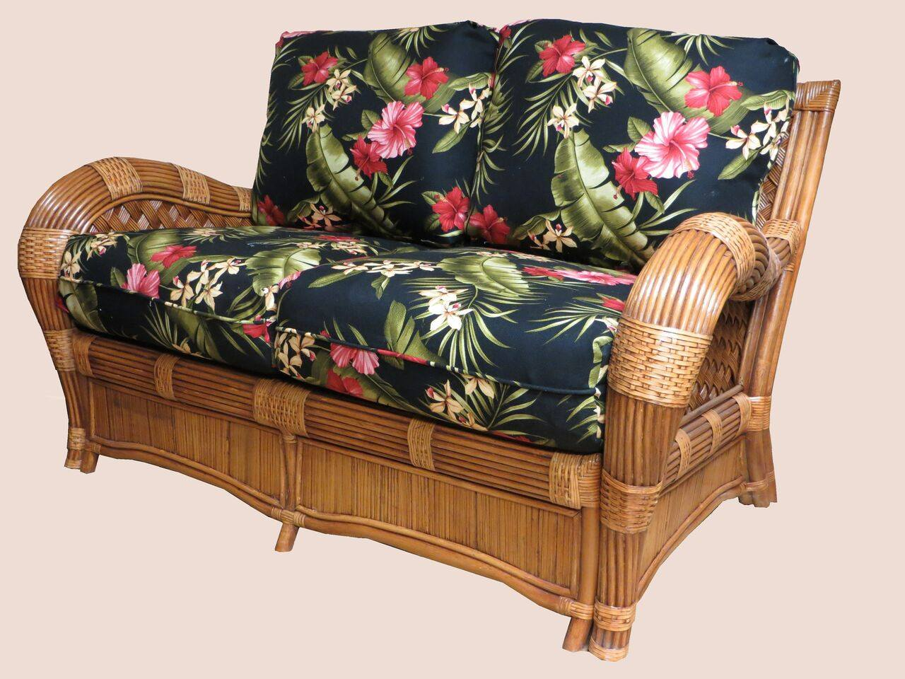 Spice Islands Kingston Reef Loveseat Cinnamon By Spice Islands - Rattan Imports