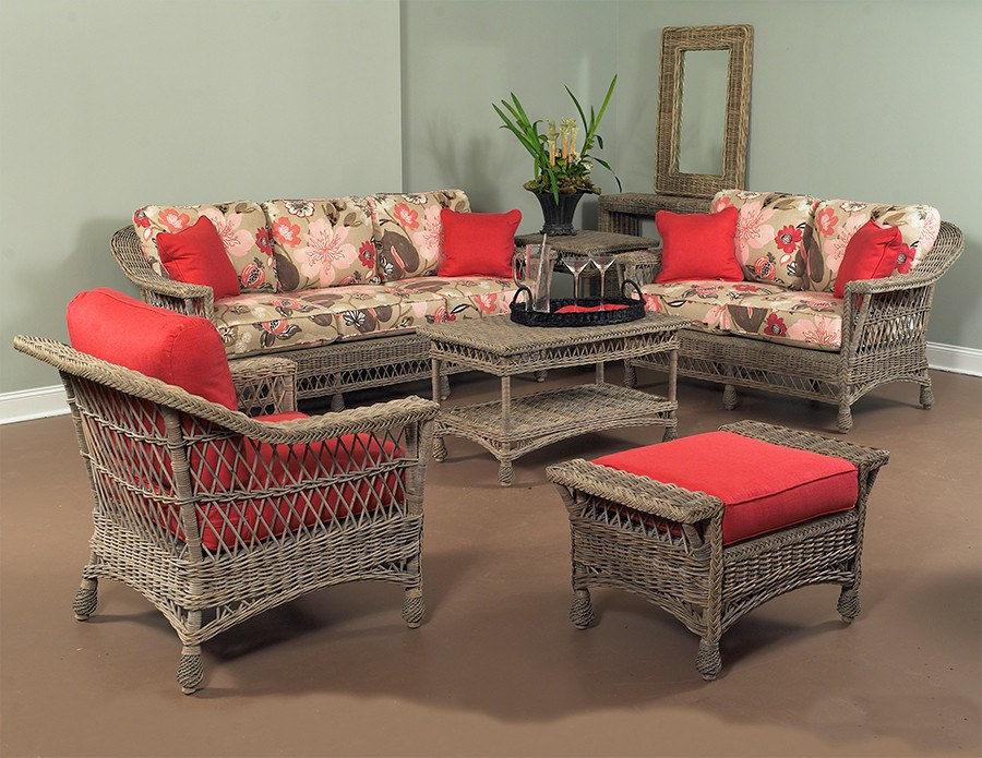 Designer Wicker & Rattan By Tribor Designer Wicker by Tribor Bar Harbor Sofa Sofa - Rattan Imports