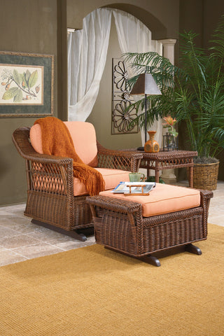 Designer Wicker & Rattan By Tribor Designer Wicker by Tribor Bar Harbor Single Glider Chair - Rattan Imports