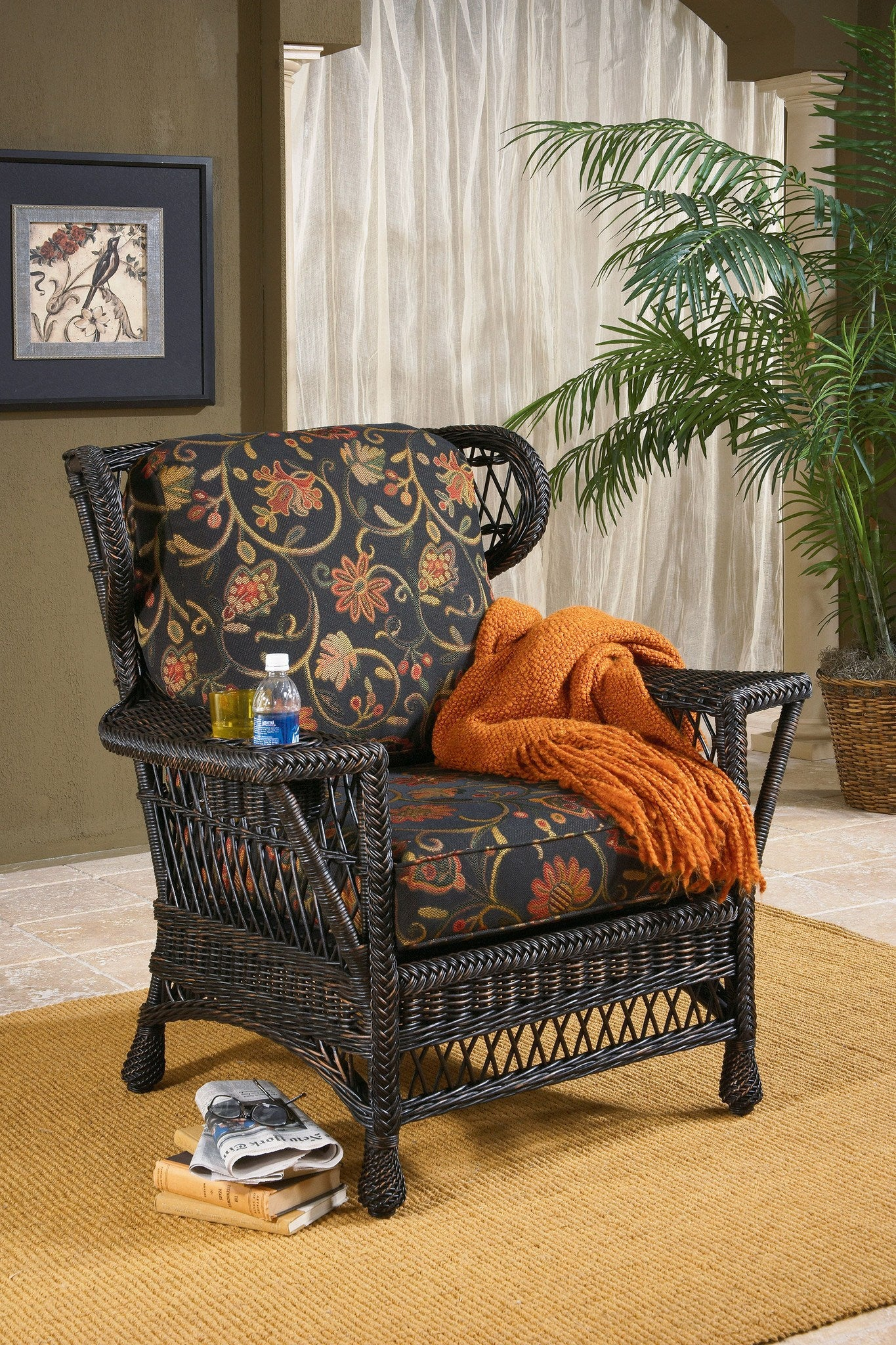 Designer Wicker & Rattan By Tribor Designer Wicker by Tribor Bar Harbor Wing Chair Chair - Rattan Imports
