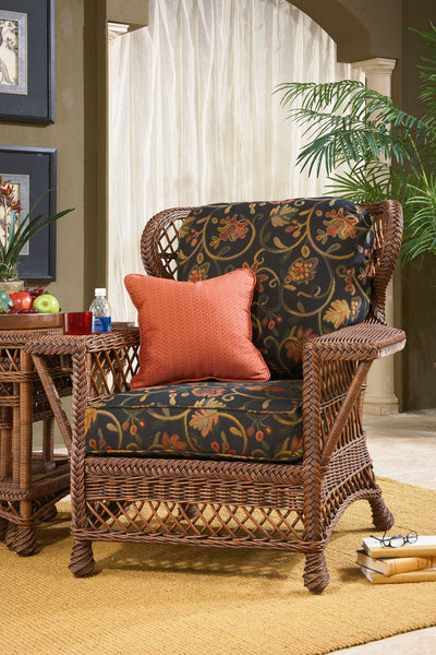 Designer Wicker & Rattan By Tribor - Bar Harbor Wing Chair -  -  - 1