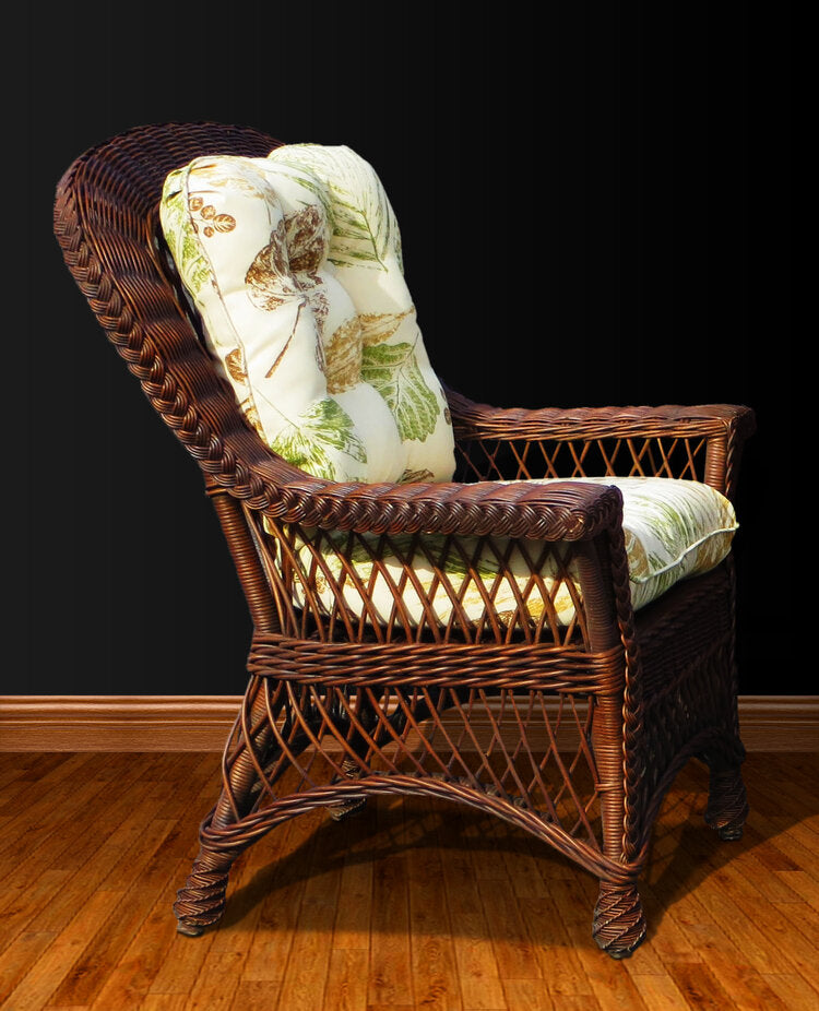 Spice Islands Bar Harbor Dining Arm Chair Brownwash