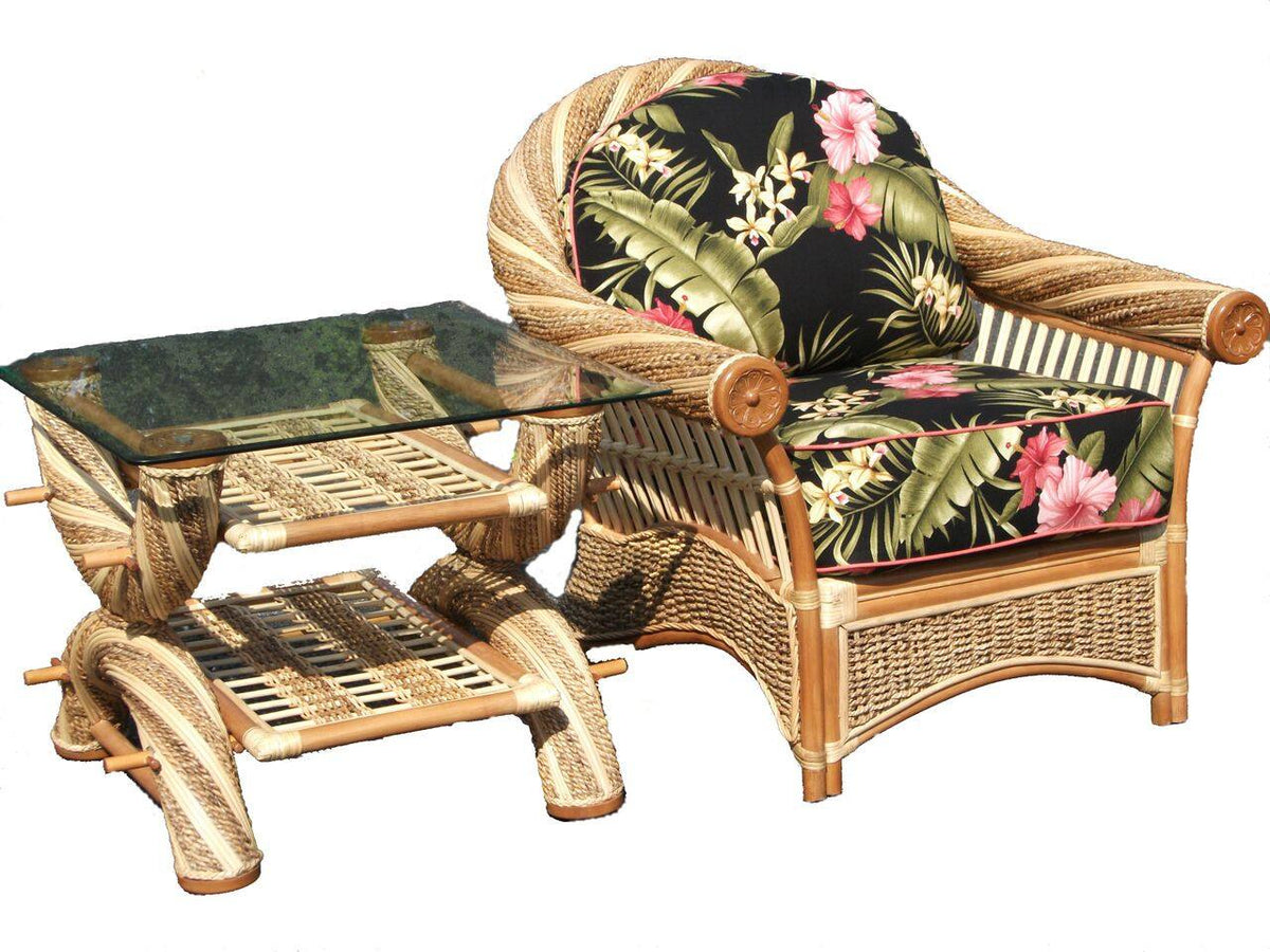 Spice Islands Spice Islands Maui Twist End Table Natural End Table - Rattan Imports